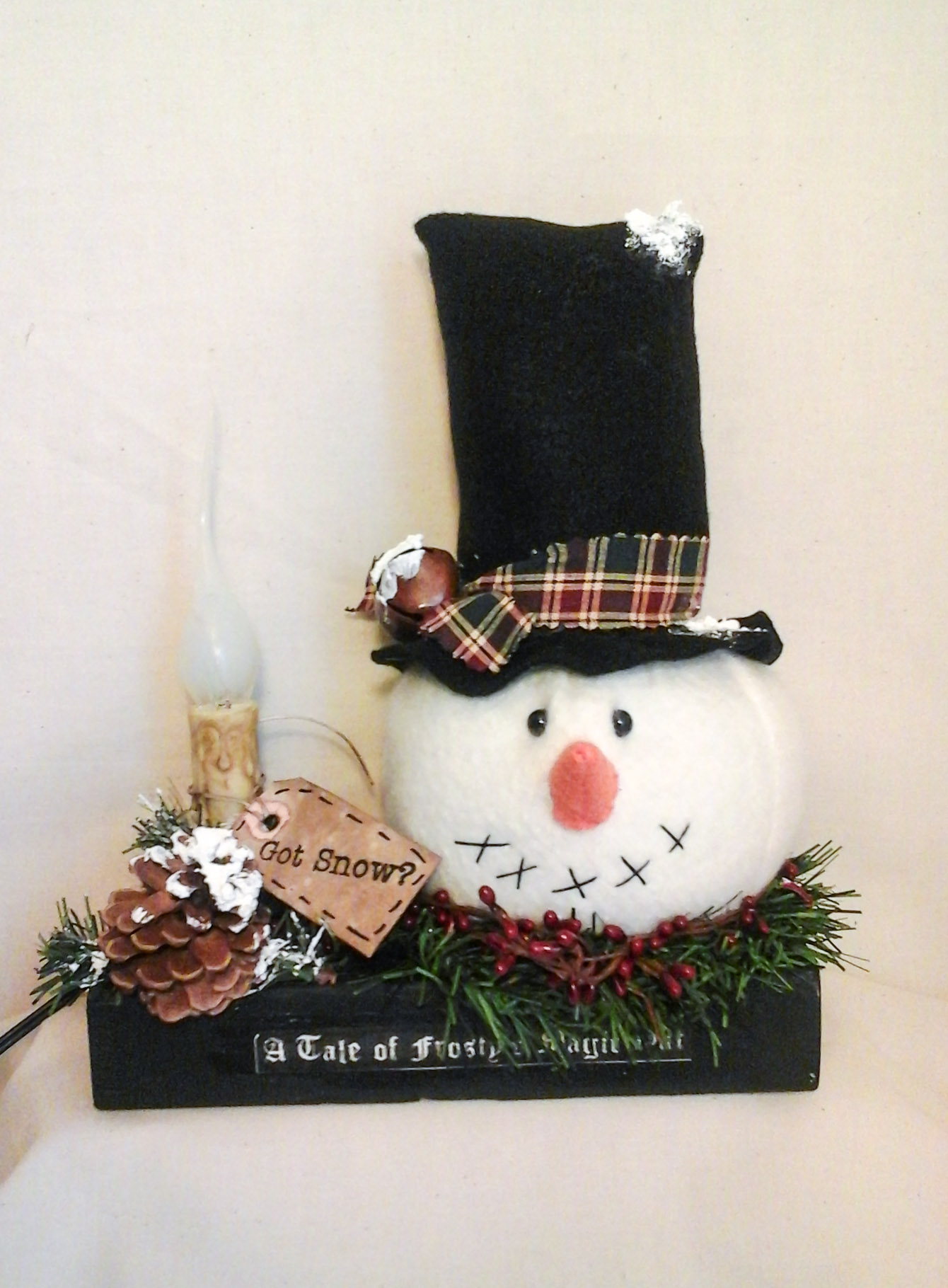 Lighted Holiday Snowman