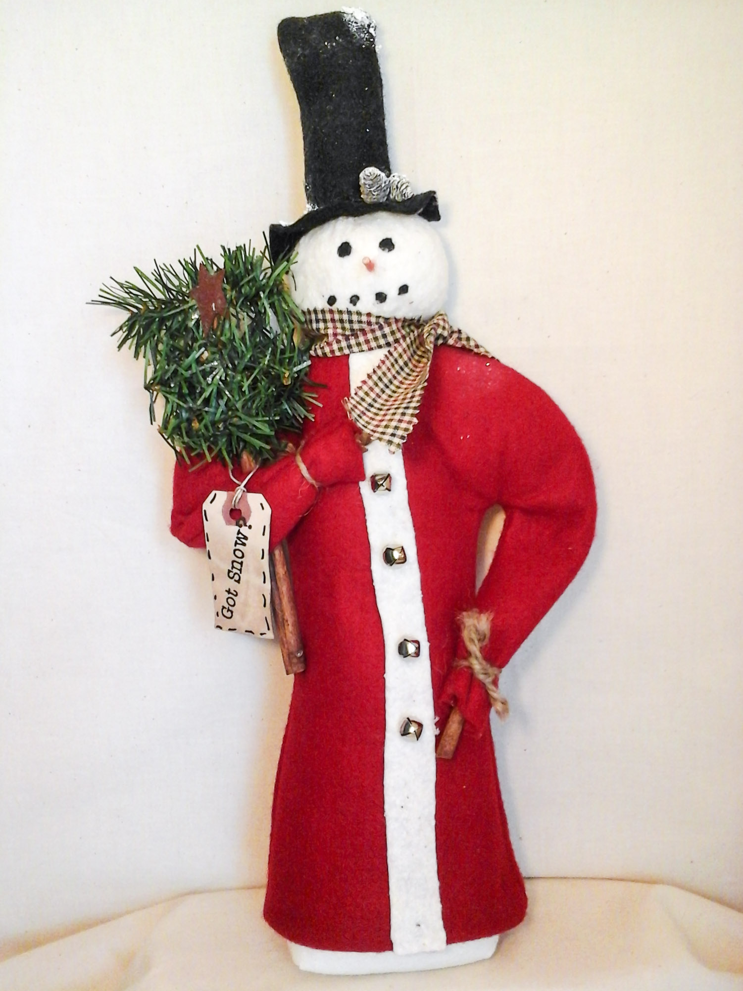 Christmas Snowman with Tree