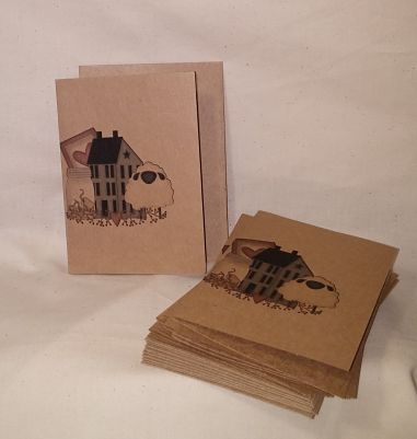 Prim Sheep and Home Note Cards