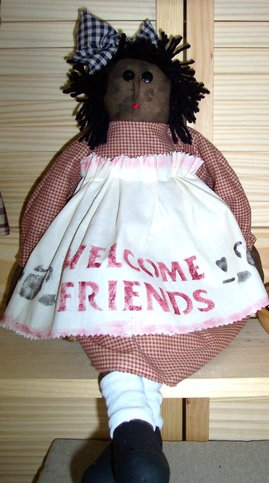 Welcome Friends Primitive Doll